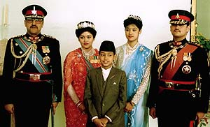 King Birendra with family