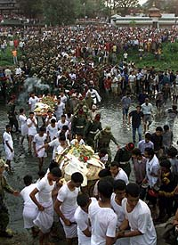 cremation of King Birendra