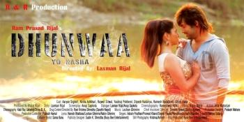 dhunwaa-yo-nasha-nepali-movie-poster aaryan sigdel nisha adhikari