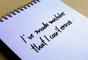my mistakes, realization